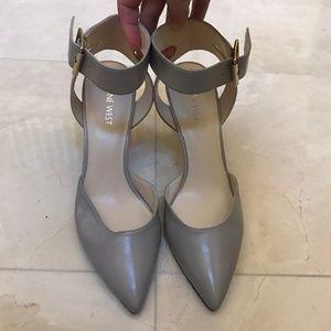 Grey Nine West Heel